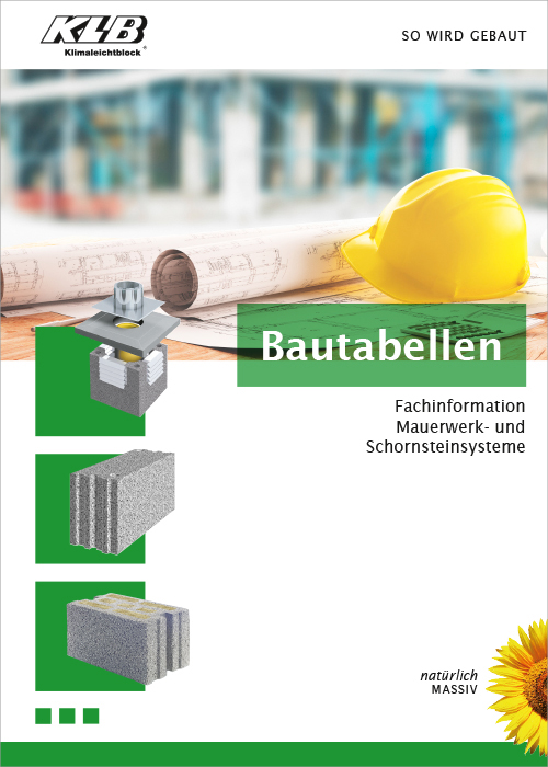 Fachinformation Bautabellen